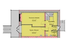 Таунхауси на Мальованці: планування 3-кімнатної квартири 98 м²