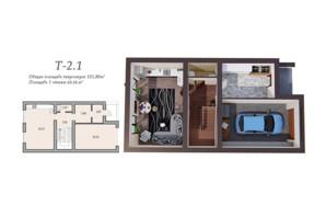 Таунхаусы в Леваневцев: свободная планировка квартиры 151.8 м²