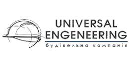 Логотип строительной компании Универсал Инджиниринг