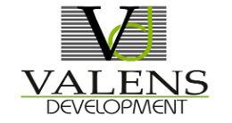 Логотип будівельної компанії Valens Development