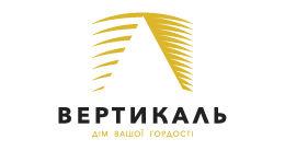 Логотип будівельної компанії Вертикаль
