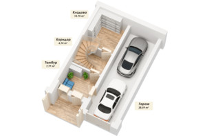 ЗК Королева Гора: планування 5-кімнатної квартири 184.93 м²