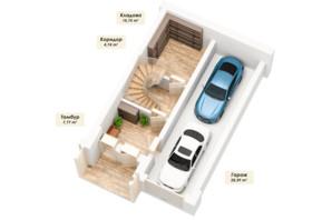 ЗК Королева Гора: планировка 4-комнатной квартиры 163.62 м²