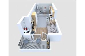 ЖБК Якісне житло: планування 1-кімнатної квартири 30.39 м²