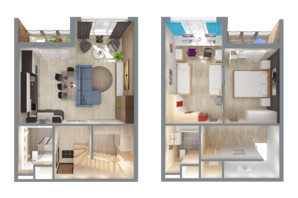 ЖК А12 на Олимпійській: планування 3-кімнатної квартири 78 м²