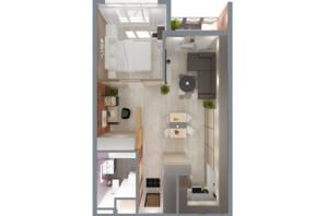 ЖК А12 на Олимпийской: планировка 2-комнатной квартиры 47 м²