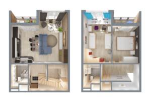 ЖК А12 на Симоненка: планування 3-кімнатної квартири 78 м²