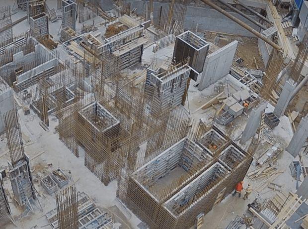 ЖК A136 highlight tower ход строительства фото 201509