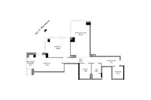 ЖК A136 highlight tower: планировка 2-комнатной квартиры 108.8 м²