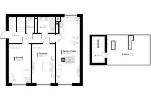 ЖК ARTHOUSE park: планировка 2-комнатной квартиры 87.1 м²
