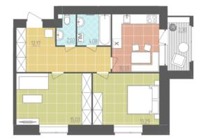 ЖК Абрикос: планировка 2-комнатной квартиры 59.49 м²