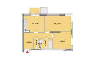 ЖК Академ-Квартал: планування 2-кімнатної квартири 60.25 м²