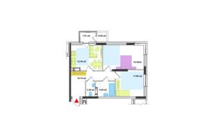ЖК Академ-Квартал: планування 2-кімнатної квартири 59.91 м²