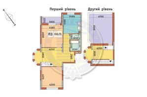 ЖК Академ Парк: планування 3-кімнатної квартири 110.71 м²