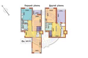ЖК Академ Парк: планування 3-кімнатної квартири 107.71 м²