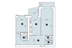 ЖК Александровский 2: планировка 2-комнатной квартиры 77.76 м²