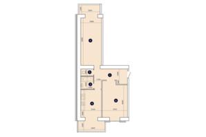 ЖК Александровский 2: планировка 2-комнатной квартиры 78.57 м²