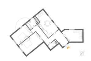 ЖК Alter Ego: планування 3-кімнатної квартири 108.09 м²