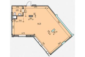 ЖК Америка: планування приміщення 70.13 м²