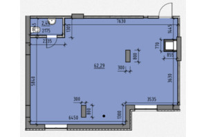 ЖК Америка: планування приміщення 64.78 м²