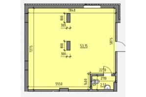 ЖК Америка: планировка помощения 55.66 м²