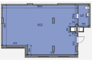 ЖК Америка: планировка помощения 74.39 м²