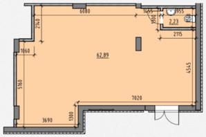 ЖК Америка: планировка помощения 65.12 м²
