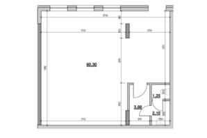 ЖК Америка: планировка помощения 67.53 м²