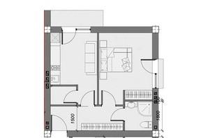 ЖК Arena Village: вільне планування квартири 39.02 м²