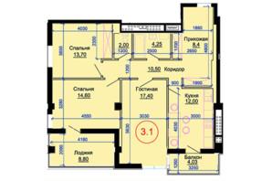 ЖК Артемівський: вільне планування квартири 92 м²