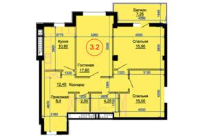 ЖК Артемівський: планування 3-кімнатної квартири 96 м²