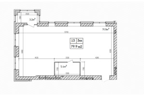 ЖК Аржанова: планировка 3-комнатной квартиры 82.3 м²