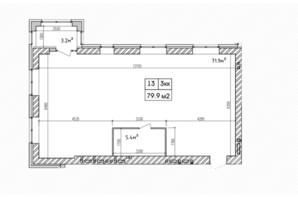 ЖК Аржанова: планировка 3-комнатной квартиры 79.9 м²