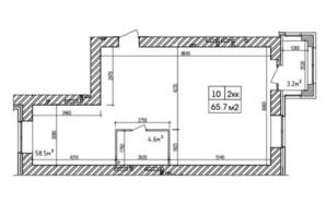 ЖК Аржанова: планировка 2-комнатной квартиры 65.7 м²