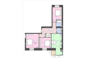 ЖК Атлант: планування 3-кімнатної квартири 92.3 м²