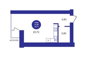ЖК Атмосфера: планування 1-кімнатної квартири 31.9 м²