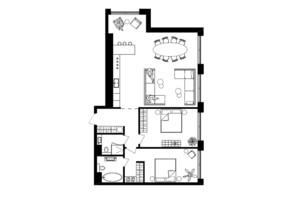 ЖК Avalon 37: планировка 2-комнатной квартиры 104.19 м²