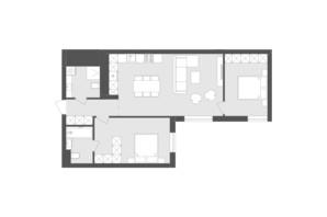 ЖК Avalon Holiday: планування 2-кімнатної квартири 73.51 м²