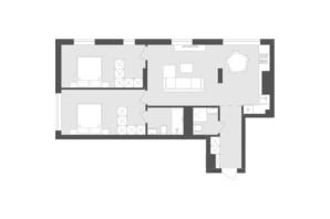 ЖК Avalon Holiday: планування 2-кімнатної квартири 74.03 м²