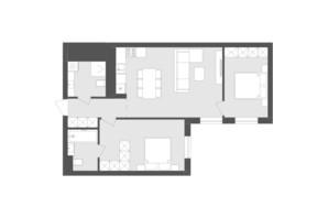 ЖК Avalon Holiday: планування 2-кімнатної квартири 66.82 м²