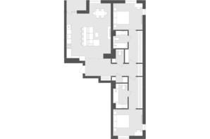 ЖК Avalon Time: планування 2-кімнатної квартири 103.2 м²