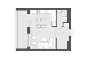 ЖК Avalon Up: планування 2-кімнатної квартири 82.89 м²
