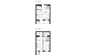 ЖК Avalon Up: планування 2-кімнатної квартири 84.72 м²