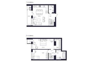 ЖК Avalon Up: планування 2-кімнатної квартири 89.59 м²