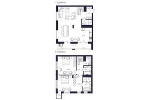 ЖК Avalon Up: планировка 2-комнатной квартиры 127.94 м²