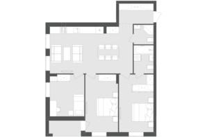 ЖК Avalon Zelena Street: планування 3-кімнатної квартири 88.17 м²