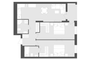 ЖК Avalon Zelena Street: планировка 2-комнатной квартиры 71.64 м²