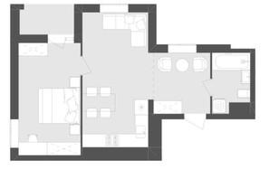 ЖК Avalon Zelena Street: планировка 1-комнатной квартиры 48.53 м²
