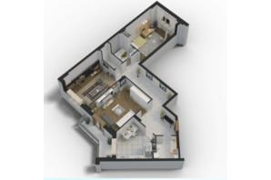 ЖК Авіа Квартал: планування 3-кімнатної квартири 95.2 м²