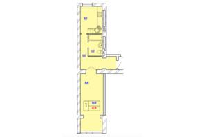 ЖК Avila Line: планування 1-кімнатної квартири 41.79 м²